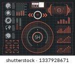 hud futuristic element. set of...
