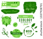 healthy food icons  labels.... | Shutterstock .eps vector #1337928701