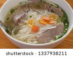 Beef Soup Pho Close Up  In A...