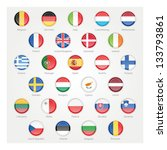 icons depicting the flags of... | Shutterstock .eps vector #133793861