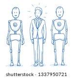 afraid business man standing...   Shutterstock .eps vector #1337950721