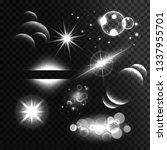 set of transparent lens flares... | Shutterstock .eps vector #1337955701