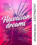 summer party poster design.... | Shutterstock .eps vector #1337960747
