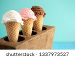 line of three classic flavors... | Shutterstock . vector #1337973527