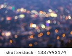 los angeles cityscape at night... | Shutterstock . vector #1337993174