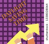 text sign showing daylight... | Shutterstock . vector #1338028064