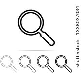 magnifying glass icon in...