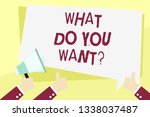 word writing text what do you... | Shutterstock . vector #1338037487