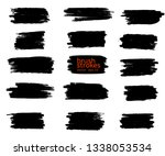 vector grunge black paint  ink... | Shutterstock .eps vector #1338053534