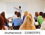 students listening to teacher... | Shutterstock . vector #133805591