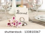 reserved sign on restaurant... | Shutterstock . vector #133810367