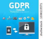 internet security  data... | Shutterstock .eps vector #1338115571