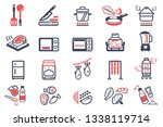 cooking and kitchenware and... | Shutterstock .eps vector #1338119714