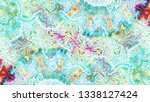 colorful horizontal pattern for ... | Shutterstock . vector #1338127424