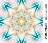 textured colorful symmetrical... | Shutterstock . vector #1338128831