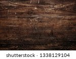 rustic brown wooden textured... | Shutterstock . vector #1338129104