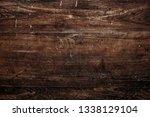 rustic brown wooden textured... | Shutterstock . vector #1338129104