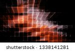 abstract red on black... | Shutterstock . vector #1338141281