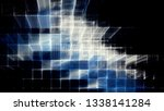 abstract blue on black... | Shutterstock . vector #1338141284