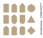 brown cardboard price tags with ... | Shutterstock .eps vector #1338144377