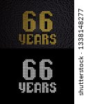 golden number sixty six years ... | Shutterstock . vector #1338148277