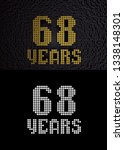 golden number sixty eight years ... | Shutterstock . vector #1338148301