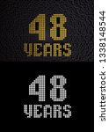 golden number forty eight years ... | Shutterstock . vector #1338148544