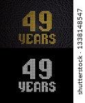 golden number forty nine years  ... | Shutterstock . vector #1338148547