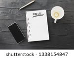 to do list in spiral notepad... | Shutterstock . vector #1338154847