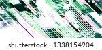 abstract vector background dot... | Shutterstock .eps vector #1338154904