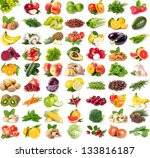 Collection Of Fresh Fruits And...