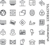 thin line icon set   route... | Shutterstock .eps vector #1338162701