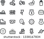 bold stroke vector icon set  ... | Shutterstock .eps vector #1338167834