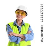female industrial engineer in... | Shutterstock . vector #1338177134