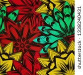 seamless floral background. the ... | Shutterstock .eps vector #1338240431