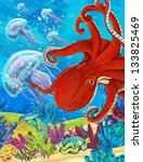 the coral reef   illustration... | Shutterstock . vector #133825469