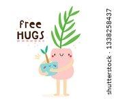 free hugs   super cute vector...   Shutterstock .eps vector #1338258437