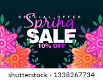 special spring sale 10  off... | Shutterstock . vector #1338267734