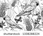 the fauna and flora of... | Shutterstock .eps vector #1338288224