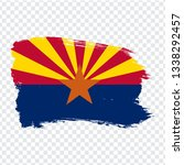 flag of arizona from brush...