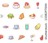 food images. background for... | Shutterstock .eps vector #1338297044