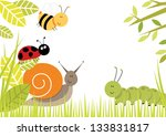 Bugs Border Cute Bugs Creating...