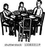black and white vector... | Shutterstock .eps vector #133833119