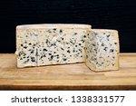 mild blue auvergne cheese... | Shutterstock . vector #1338331577