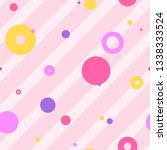 endless background with circles.... | Shutterstock .eps vector #1338333524
