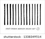 hand drawn marker brush vector... | Shutterstock .eps vector #1338349514