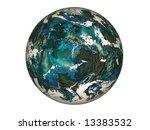 raster illustration blue planet ... | Shutterstock . vector #13383532