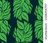 vector seamless floral pattern... | Shutterstock .eps vector #1338354797