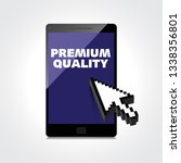 premium quality words display... | Shutterstock .eps vector #1338356801