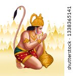 hanuman was the one of the...   Shutterstock . vector #1338365141